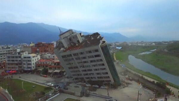Trzęsienie ziemi w Tajwanie - Sputnik Polska