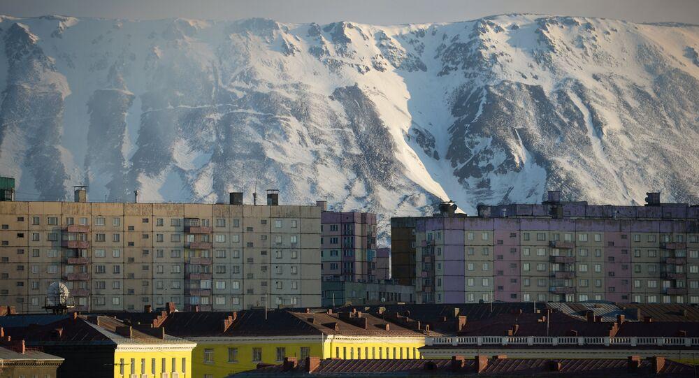 Norylsk podczas dnia polarnego, który trwa od 19 maja do 23 czerwca
