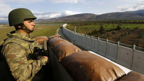 Ściana między Turcją a Syrią - Sputnik Polska