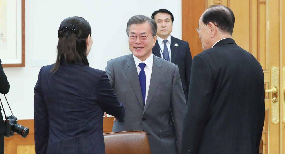 Kim Jo Dzong jest pierwszą osobą z rodziny Kimów, która odwiedziła Koreę Południową