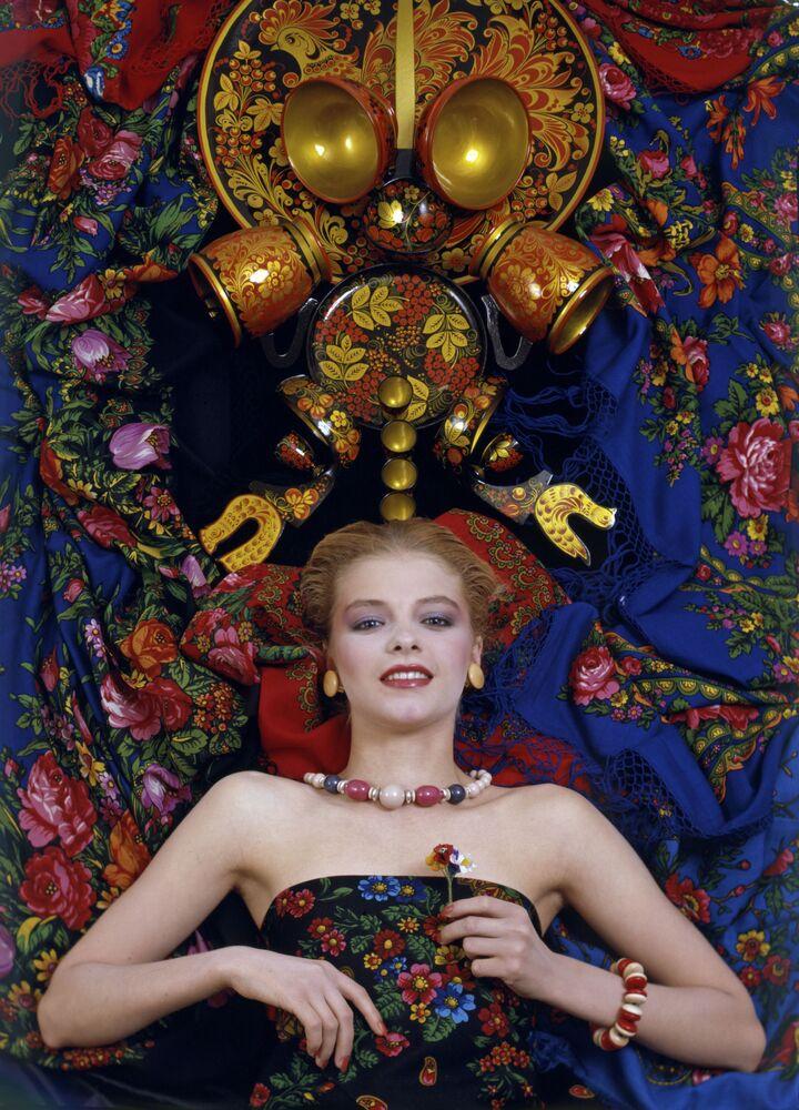 Makijaż od projektanta mody i wizażysty Walentina Judaszkina, 1986 rok.