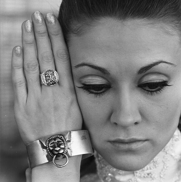 Biżuteria damska ze srebra, 1969 rok. - Sputnik Polska