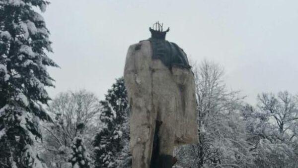 Pomnik Tarasa Szewczenki zbezczeszczony w obwodzie lwowskim - Sputnik Polska