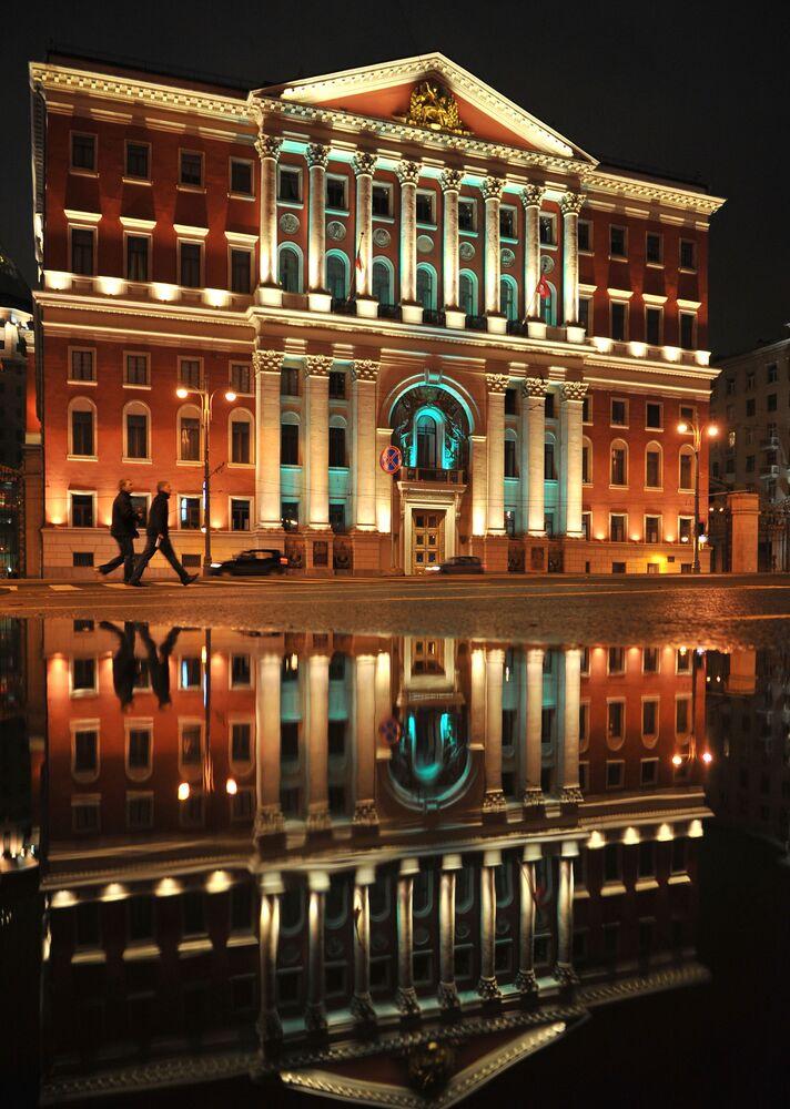 Oświetlenie siedziby mera Moskwy