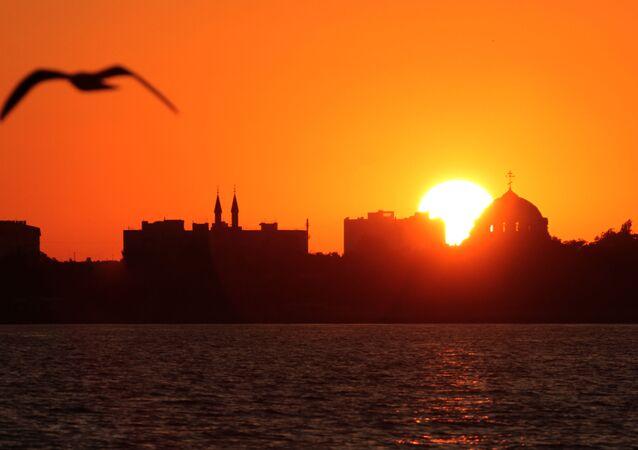 Zachód Słońca w Eupatorii
