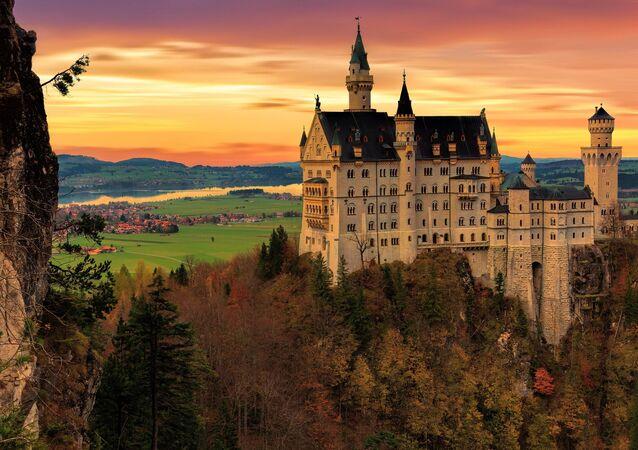 Zamek Neuschwanstein w Niemczech