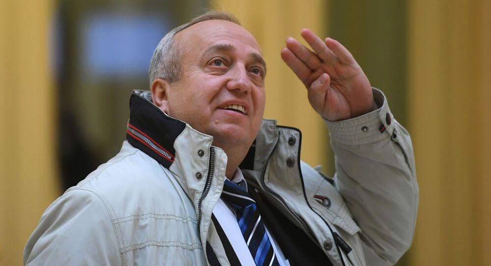 Członek Rady Federacji Rosji Franc Klincewicz. Zdjęcie archiwalne