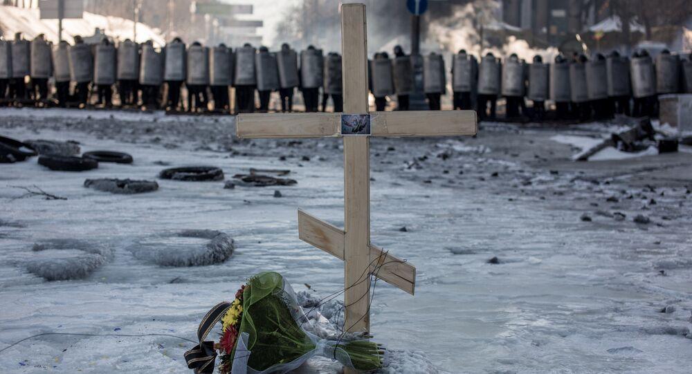 Krzyż - miejsce pamięci o zabitych podczas Majdanu