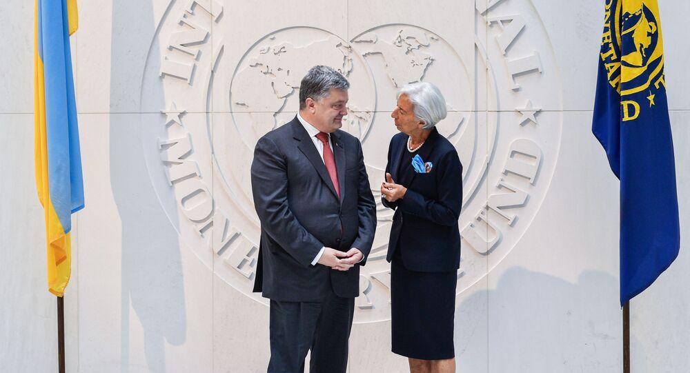 Prezydent Ukrainy Petro Poroszenko i szefowa Międzynarodowego Funduszu Walutowego Christine Lagarde
