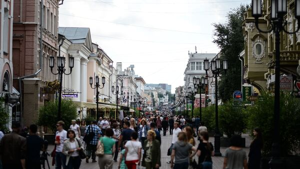 Ludzie na ulicy w Niżnym Nowogrodzie - Sputnik Polska
