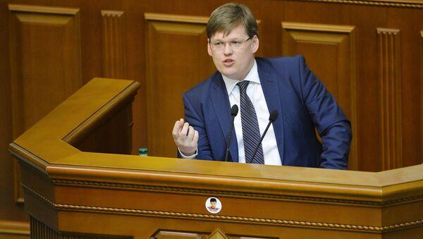 Minister polityki społecznej Ukrainy Pawło Rozenko na posiedzeniu Rady Najwyższej Ukrainy - Sputnik Polska