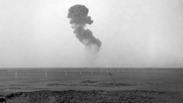 Próba atomowa w Reggane, Algieria - Sputnik Polska