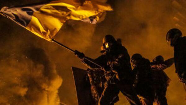 Kijów, Majdan. Starcia protestujących z policją - Sputnik Polska