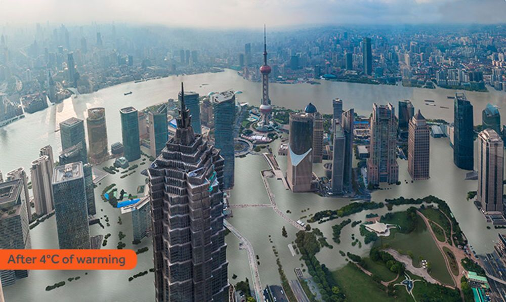 Jak wyglądałby Szanghaj po zatopieniu w rezultacie globalnego ocieplenia
