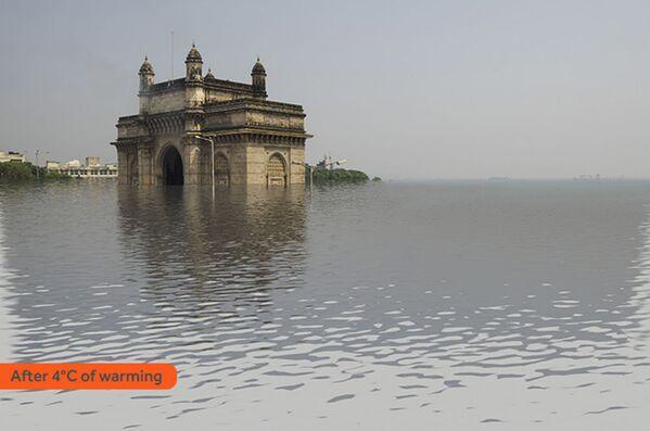 Jak wyglądałby Mumbaj po zatopieniu w rezultacie globalnego ocieplenia - Sputnik Polska
