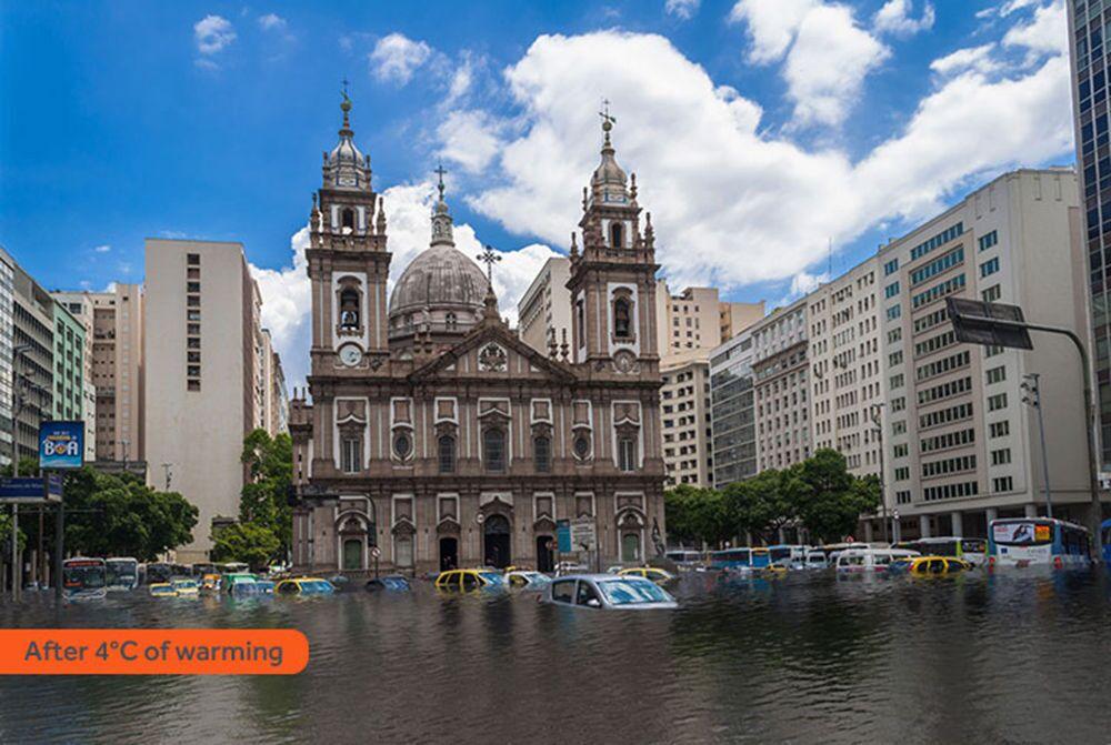 Jak wyglądałoby Rio de Janeiro po zatopieniu w rezultacie globalnego ocieplenia