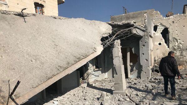 Osada w prowincji Afrin na północy Syrii - Sputnik Polska