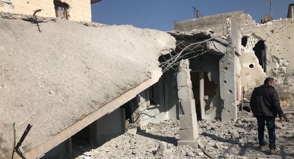 Osada w prowincji Afrin na północy Syrii