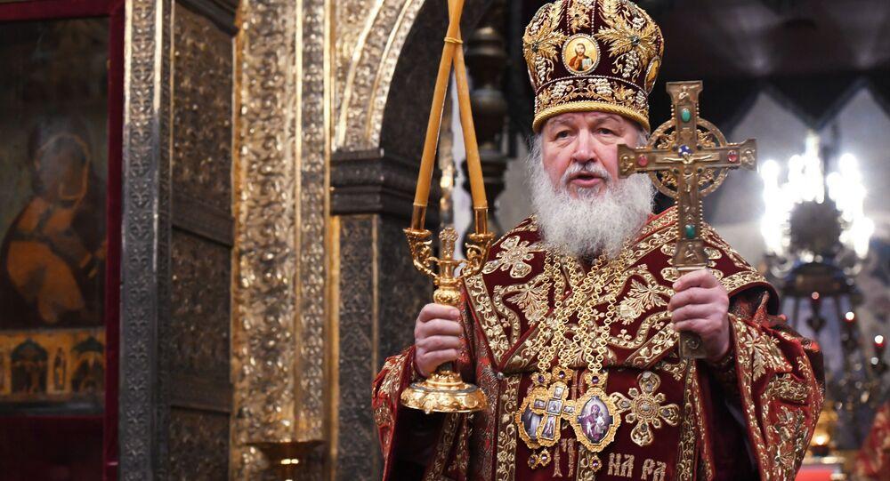Patriarcha Moskwy i Wszechrusi Cyryl odprawia mszę w intencji rosyjskiej reprezentacji olimpijskiej