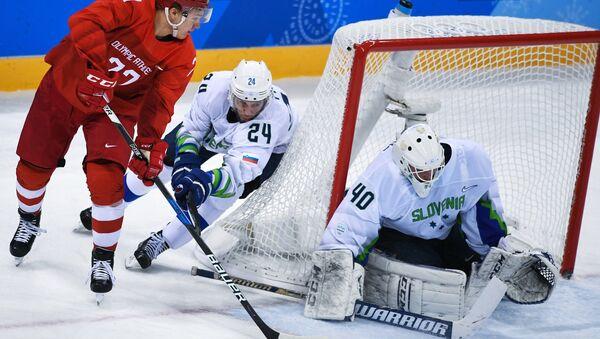 Mecz Rosja-Słowenia, hokej - Sputnik Polska