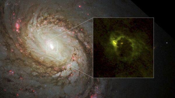 Pierwsze zdjęcie bajgla czarnej dziury w galaktyce M77 - Sputnik Polska