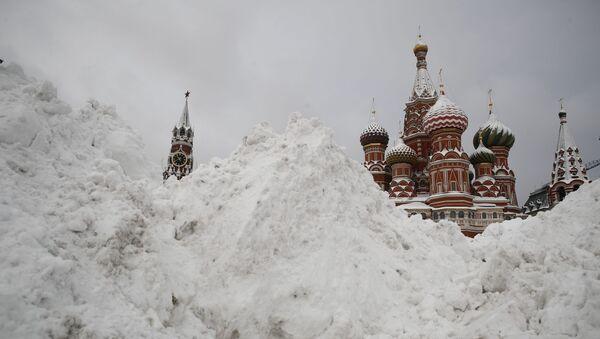 Śnieg na Placu Czerwonym - Sputnik Polska