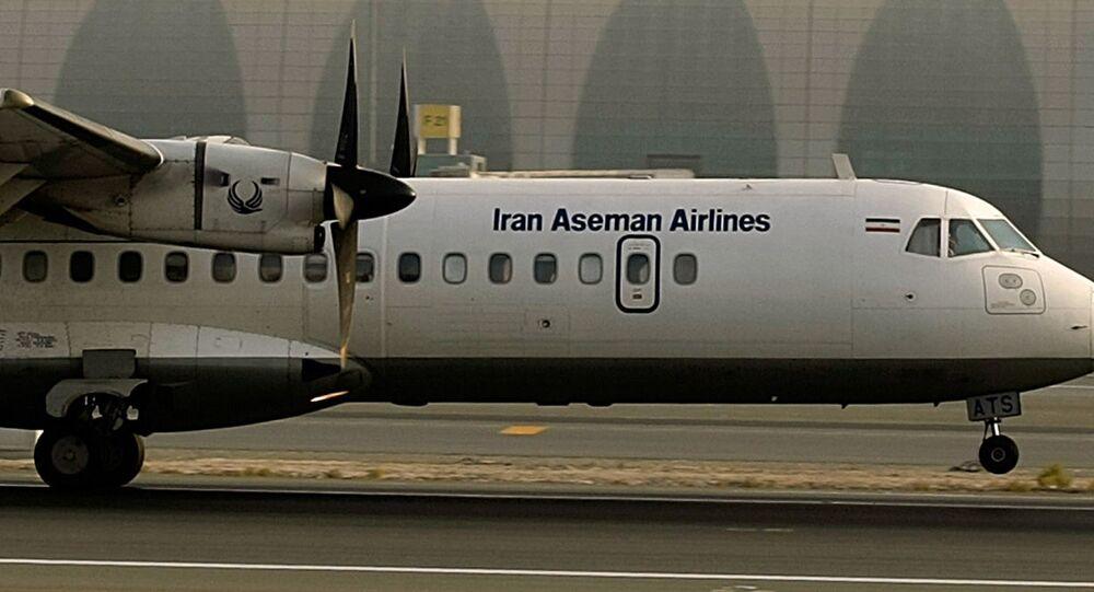Samolot ATR-72 irańskich linii lotniczych Aseman Airlines