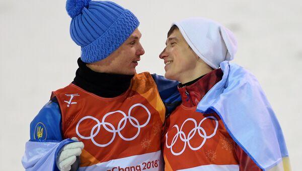 Aleksandr Abramenko (Ukraina) i Ilia Burow (Rosja), Pjongczang 2018 - Sputnik Polska