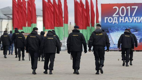 Białoruski OMON w Mińsku - Sputnik Polska