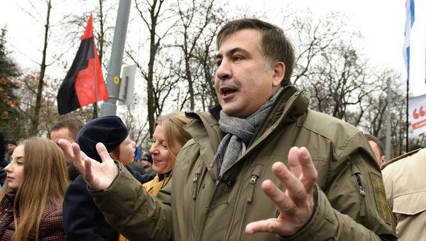 Micheil Saakaszwili w Kijowie, grudzień 2017 - Sputnik Polska