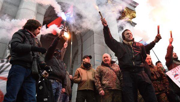 Antyrosyjska akcja w Kijowie - Sputnik Polska