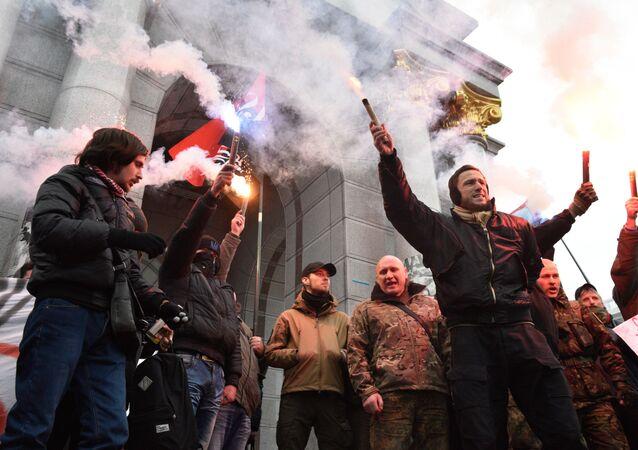 Antyrosyjska akcja w Kijowie.