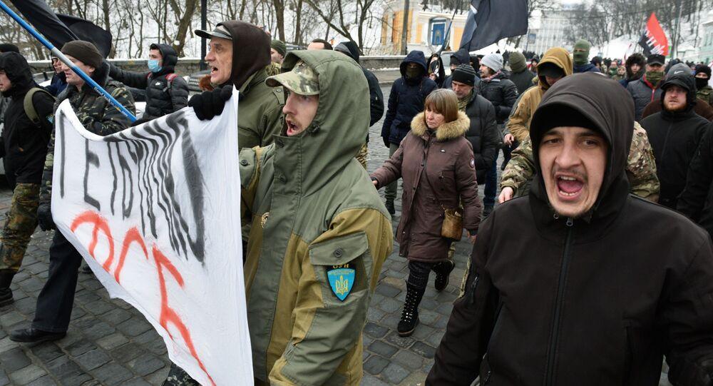 Antyrosyjska manifestacja w Kijowie