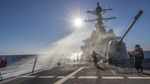 Niszczyciel Marynarki Wojennej USA Carney - Sputnik Polska