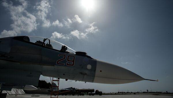 Niszczyciel Sił Powietrzno-Kosmicznych Rosji na bazie Hmeimim - Sputnik Polska