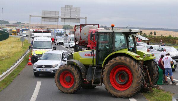 Protesty rolników we Francji - Sputnik Polska