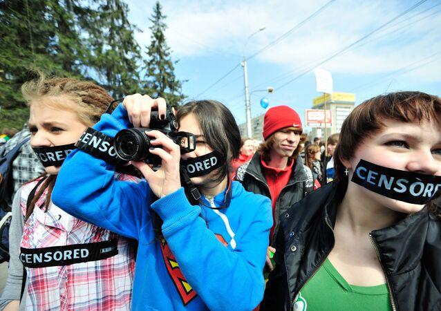 Akcja protestu przeciwko cenzurze