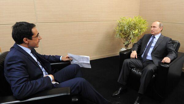 Wywiad prezydenta Rosji Władimira Putina dla szwajcarskich mediów w Petersburgu - Sputnik Polska