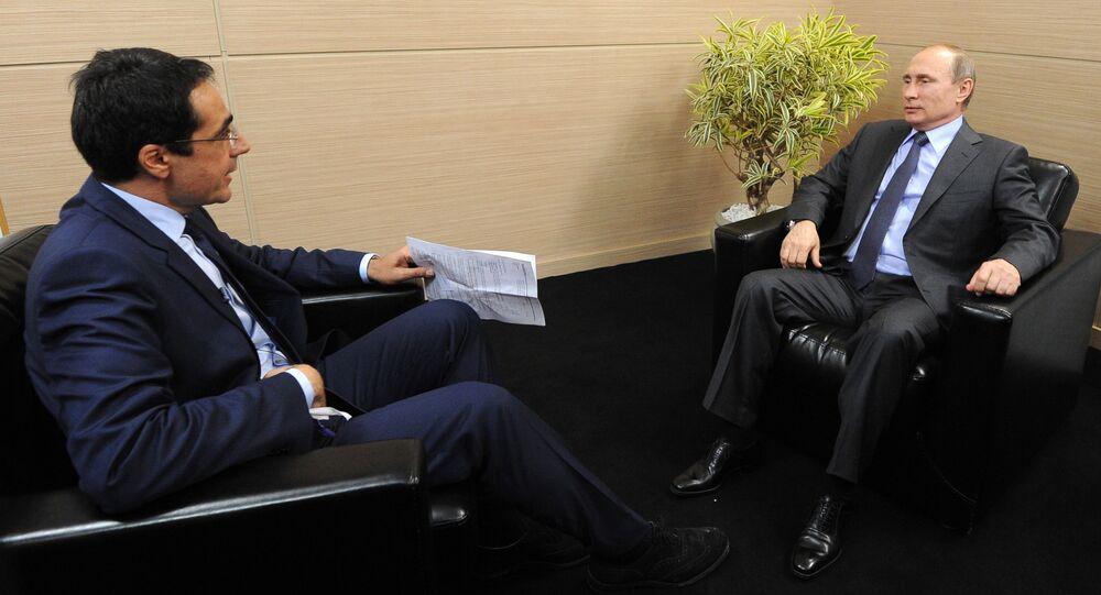 Wywiad prezydenta Rosji Władimira Putina dla szwajcarskich mediów w Petersburgu
