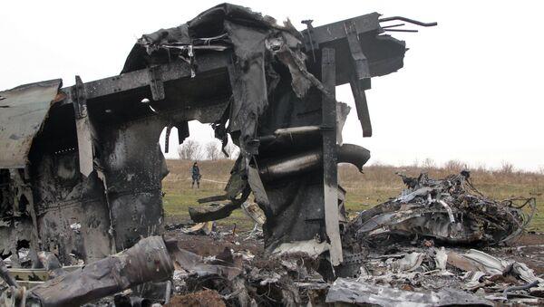 Szczątki malezyjskiego samolotu Boeing na wschodzie Ukrainy - Sputnik Polska