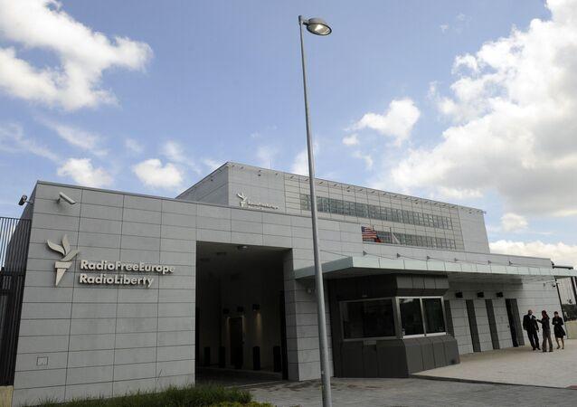 Budynek Radia Wolna Europa w Pradze