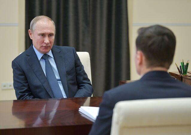 Władimir Putin i Aleksiej Mordaszow