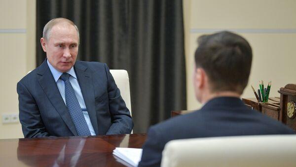 Władimir Putin i Aleksiej Mordaszow - Sputnik Polska