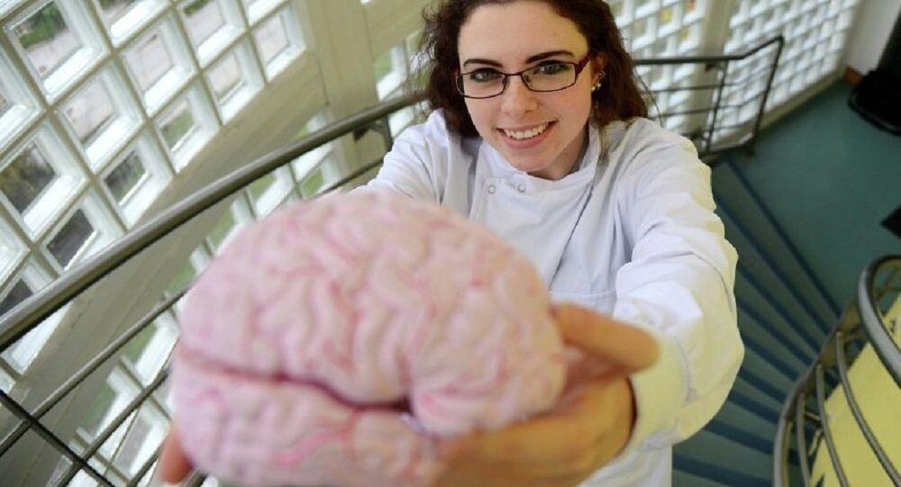 Mózg człowieka chorego na Alzheimera