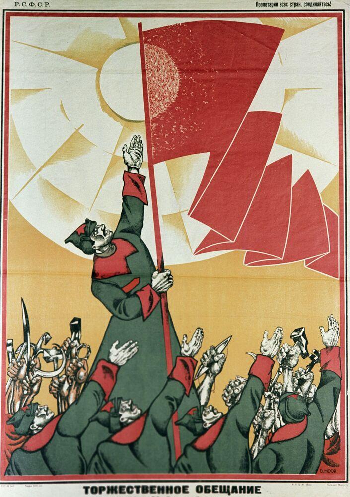 Armia Czerwona na radzieckich plakatach