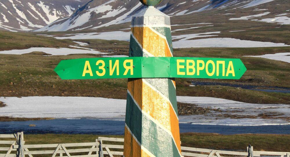 Słupek graniczny Europy i Azji na Uralu