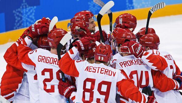 Rosyjscy hokeiści na Igrzyskach w Pjongczangu - Sputnik Polska