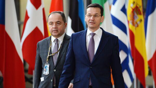 Mateusz Morawiecki podczas szczytu UE w Brukseli. - Sputnik Polska