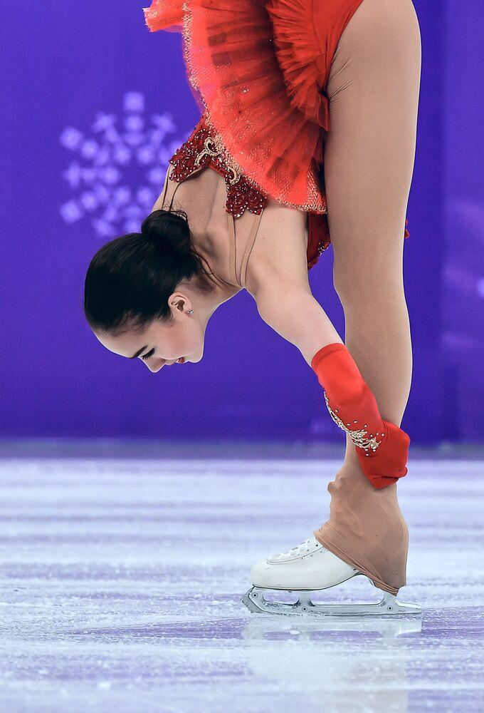 Występ łyżwiarki figurowej Anny Zagitowej w programie dowolnym 23 lutego 2018
