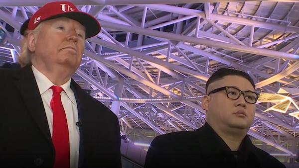 Gdyby Trump i Kim Dzong Un spotkali się na Olimpiadzie - Sputnik Polska